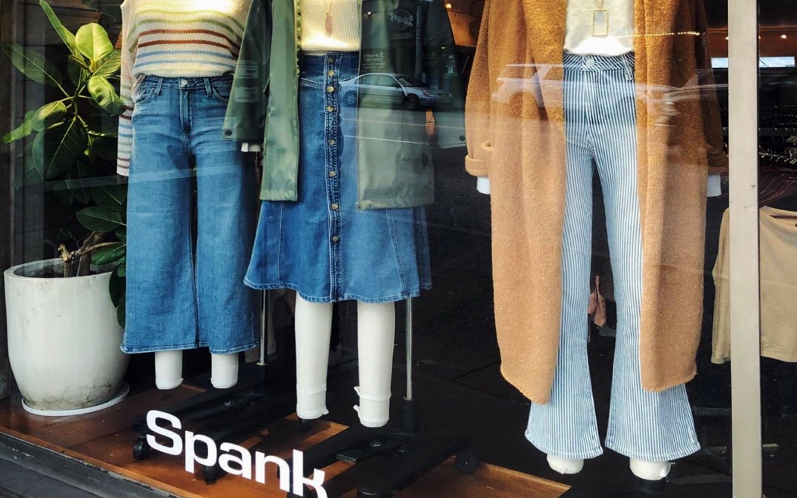 The window at Spank Clothing, Commercial Drive