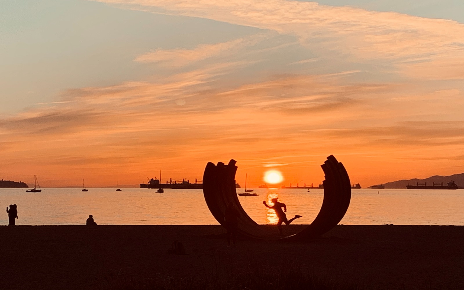 The whale bones at Sunset Beach, Vancouver