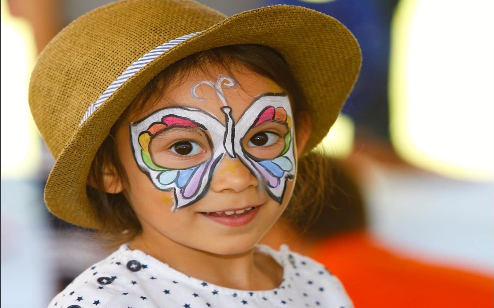 A girl has her face painted at the Vancouver International Children's Festival