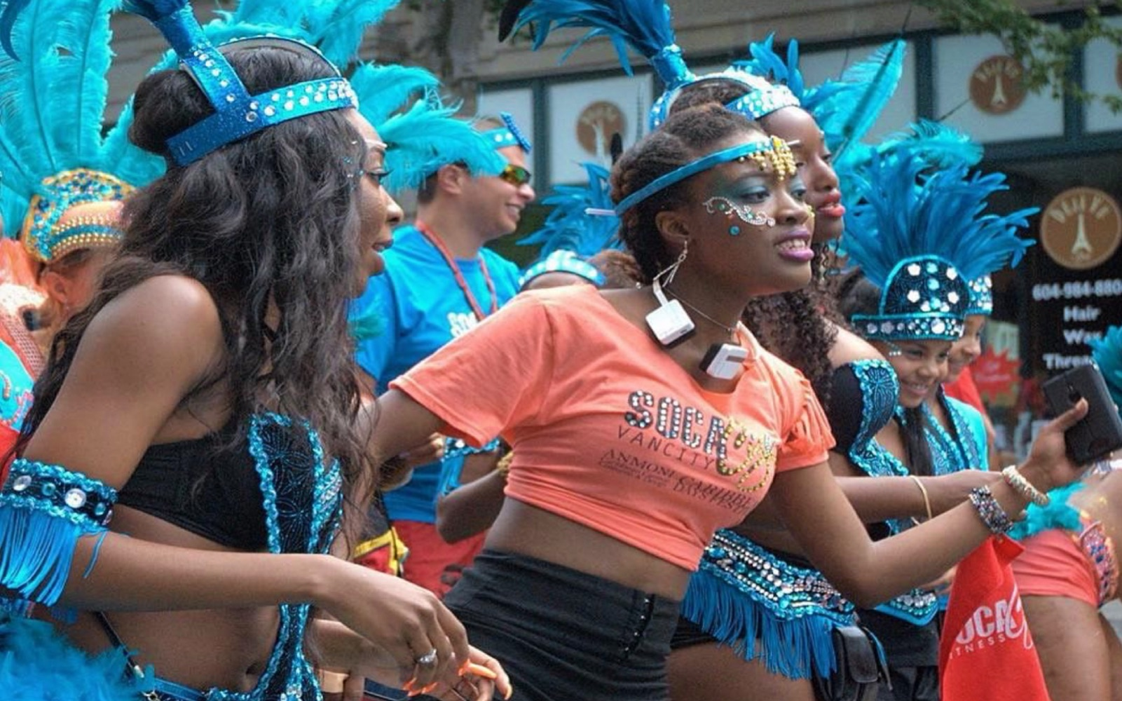 Dancers in the Caribbean Days parade, North Vancouver