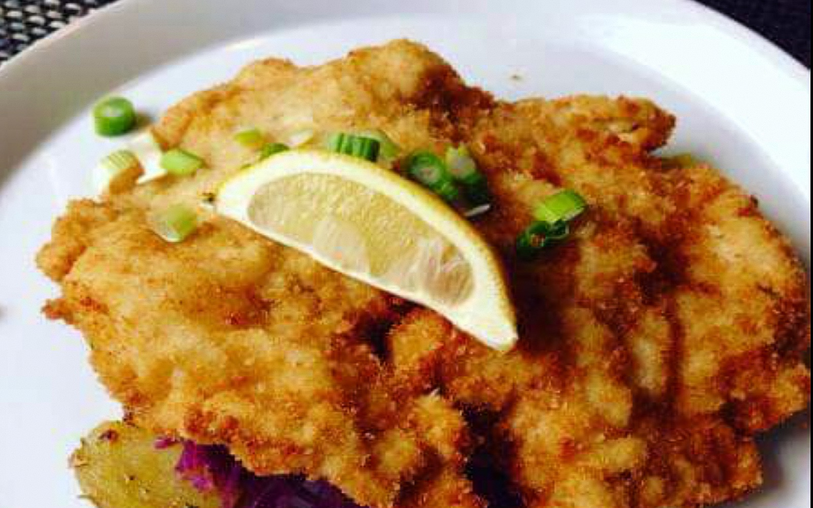 The schnitzel at Jagerhof, Lower Lonsdale