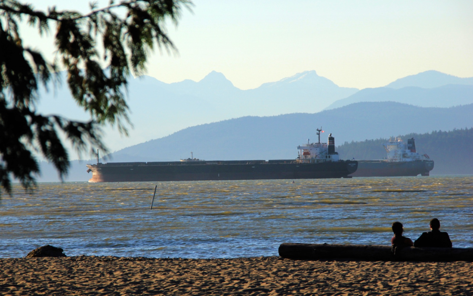 The view of English Bay from Locarno Beach