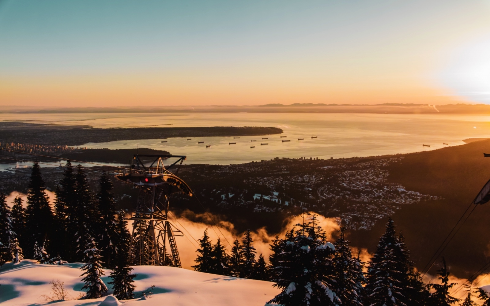 The view of North Vancouver from Grouse Mountain