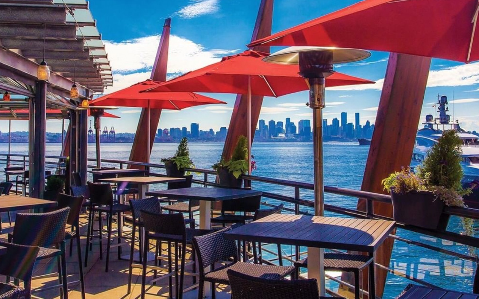 The patio at Pier 7, North Vancouver