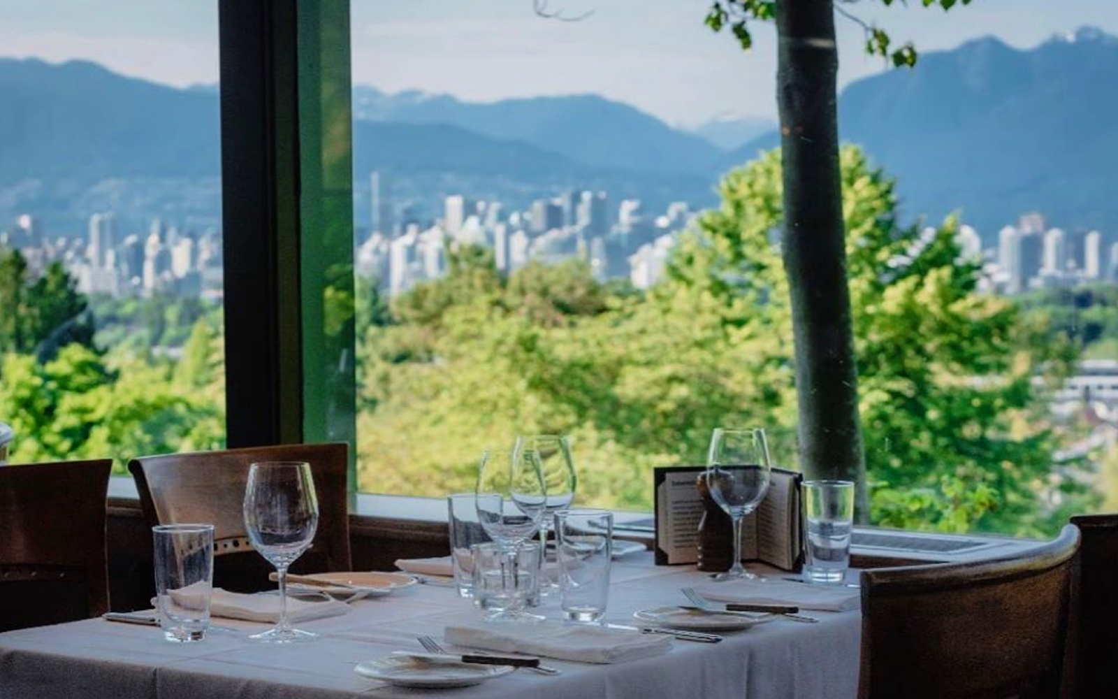 The view from the dining room at Seasons in the Park, Vancouver
