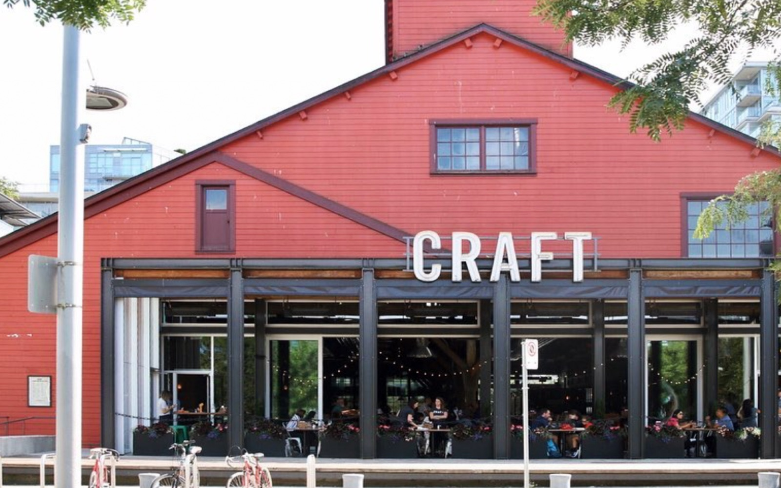 The exterior of Craft Beer Market, Olympic Village