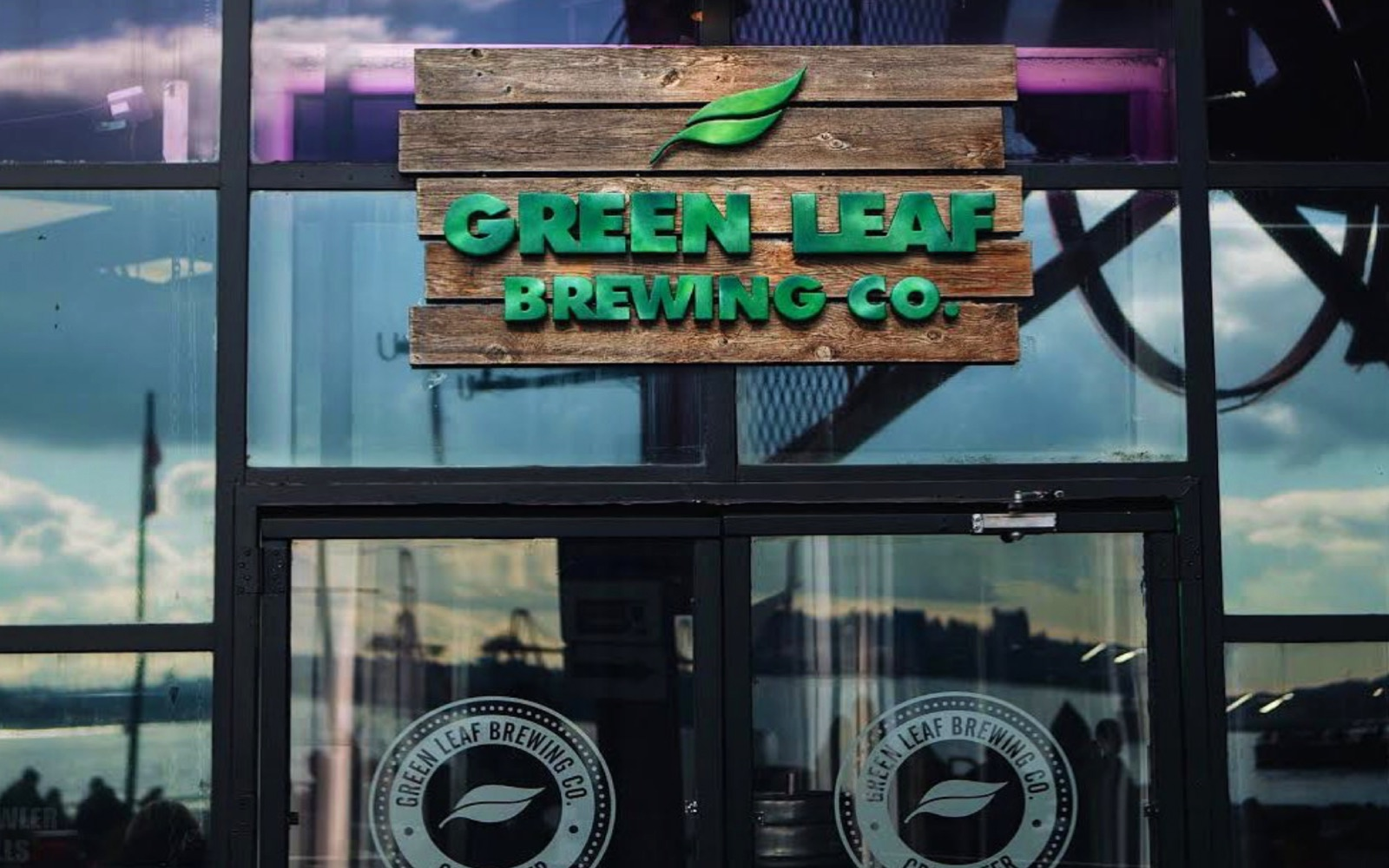 The entrance to Green Leaf Brewing, North Vancouver