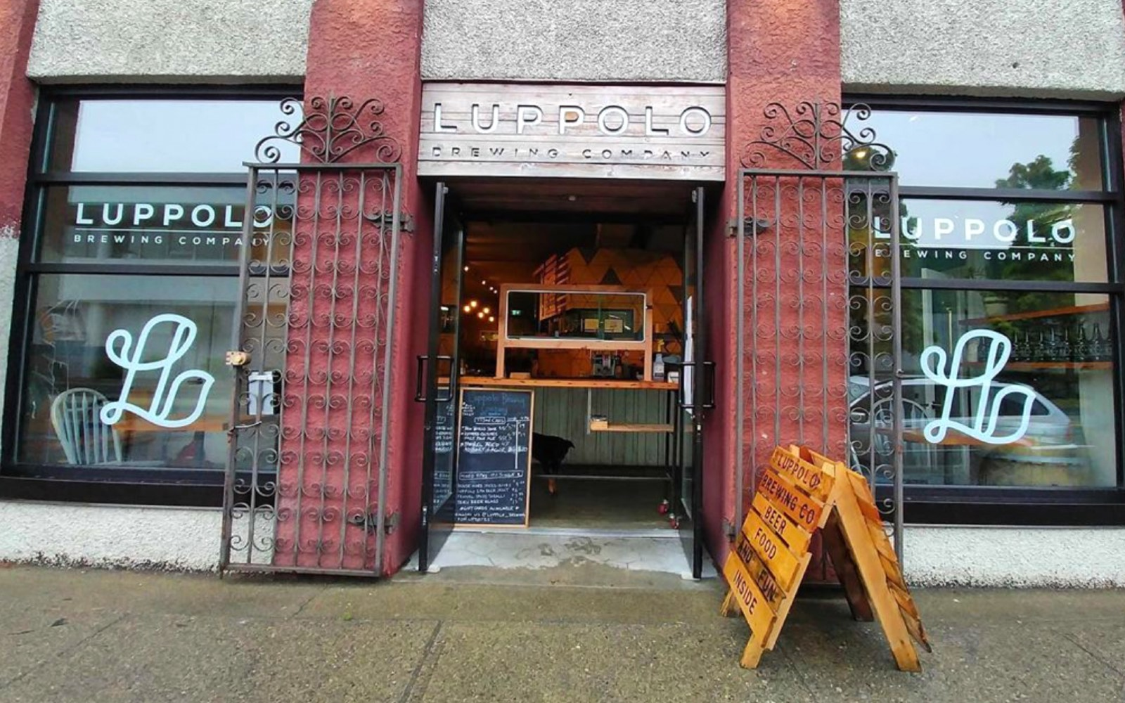 The entrance to Luppolo Brewing, East Vancouver