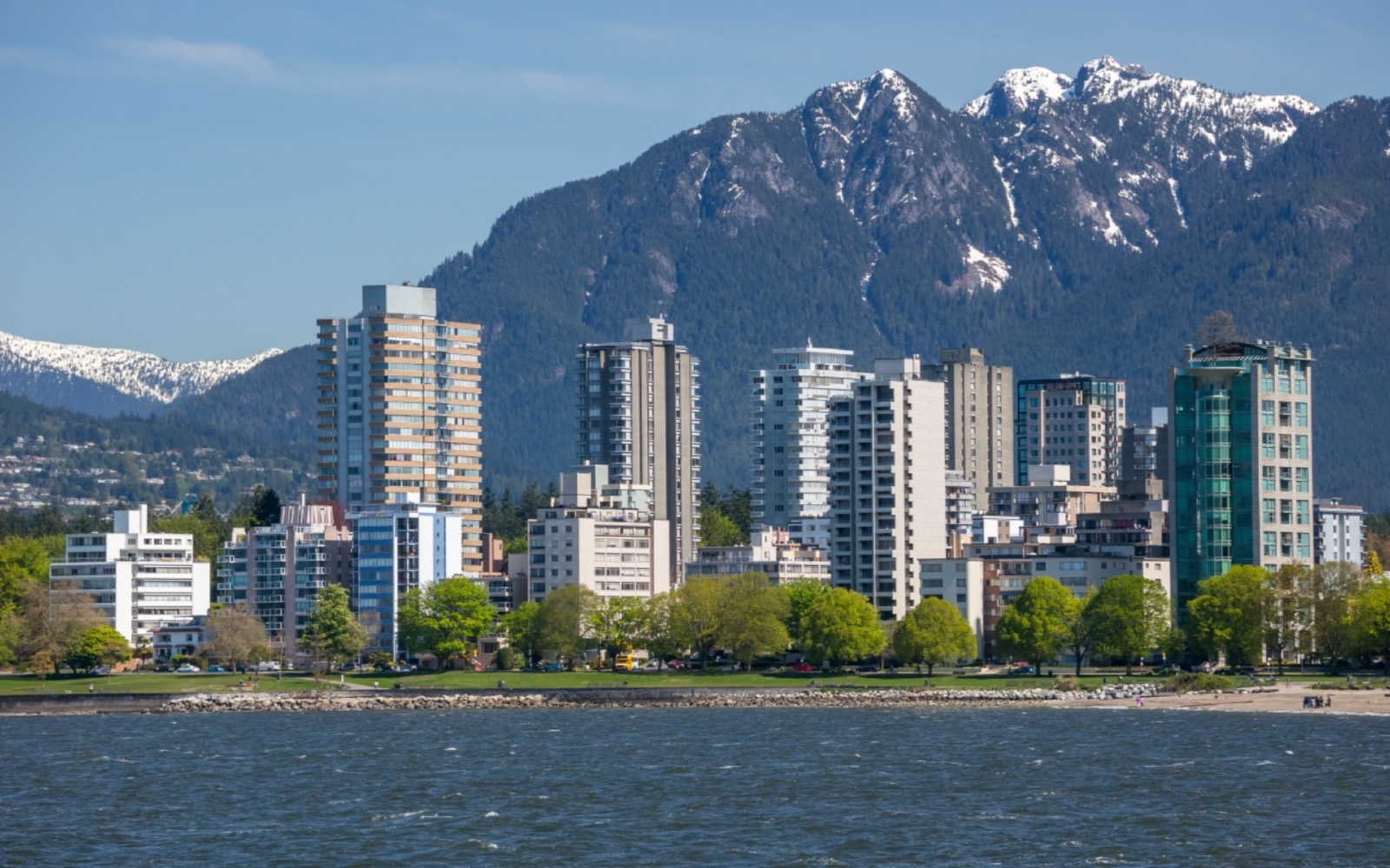 A shot of Vancouver's West End from English Bay